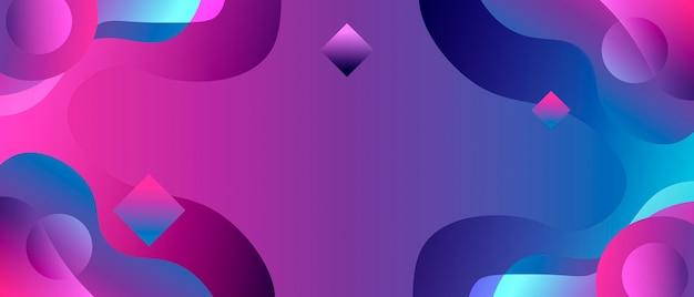 Абстрактная неоновая, жидкая иллюстрация плаката для рекламы или дизайна