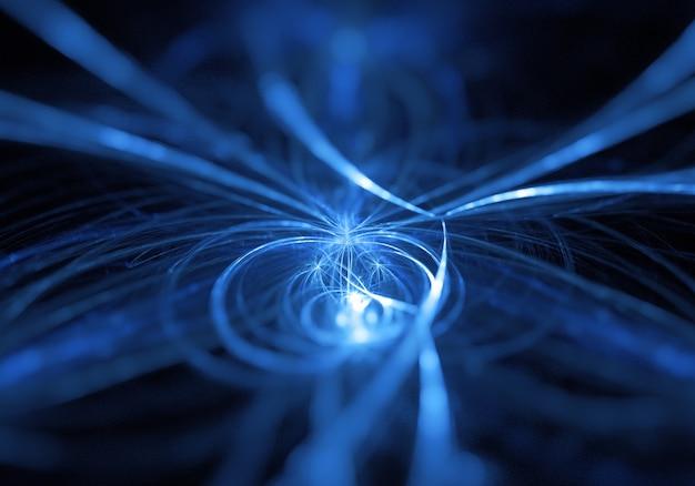 Абстрактный фон неоновые световые лучи