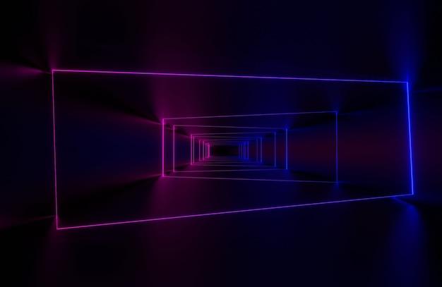 抽象的なネオンライトの背景