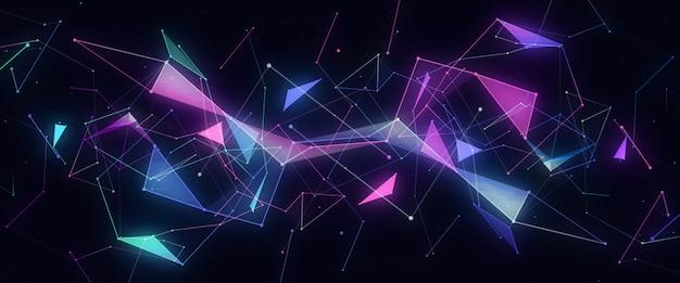 Абстрактные неоновые линии футуристического модерна