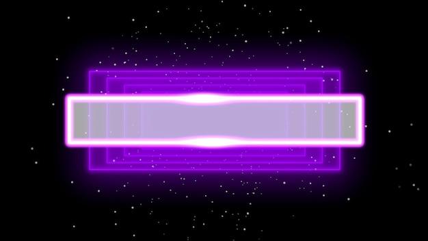은하계의 추상 네온 보라색 사각형, 디스코 배경. 클럽 및 기업 템플릿을 위한 우아하고 고급스러운 3d 일러스트레이션 스타일