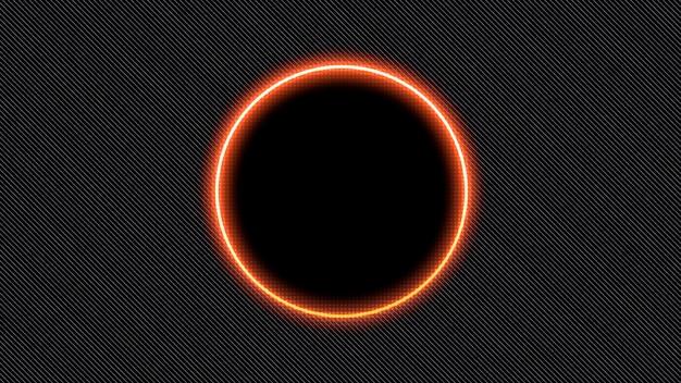 Абстрактный неоновый красный круг, диско-фон. элегантный и роскошный стиль 3d иллюстрации для клубного и корпоративного шаблона