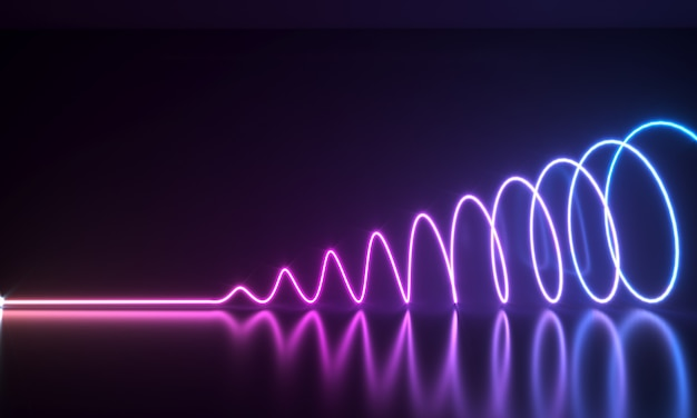 Abstract neon shapes