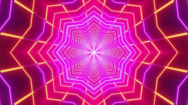 Абстрактная неоновая звезда светящийся 3d фон