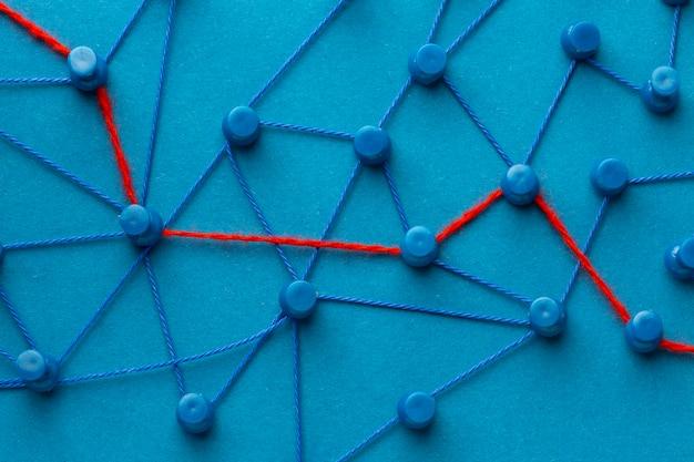 추상 네트워킹 개념 정물 배열