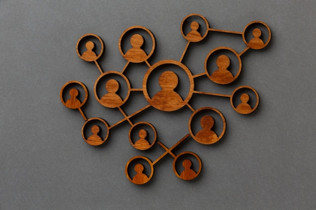 Abstract networking concept still life arrangement