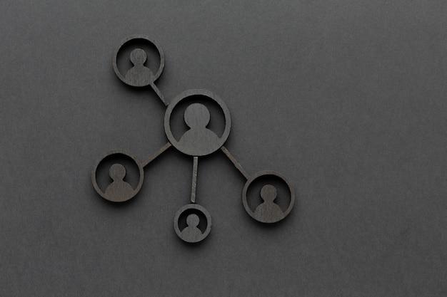 Assortimento astratto di natura morta di concetto di rete