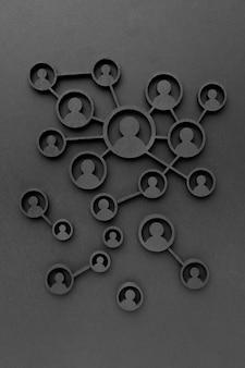 추상 네트워킹 개념 정물 구색