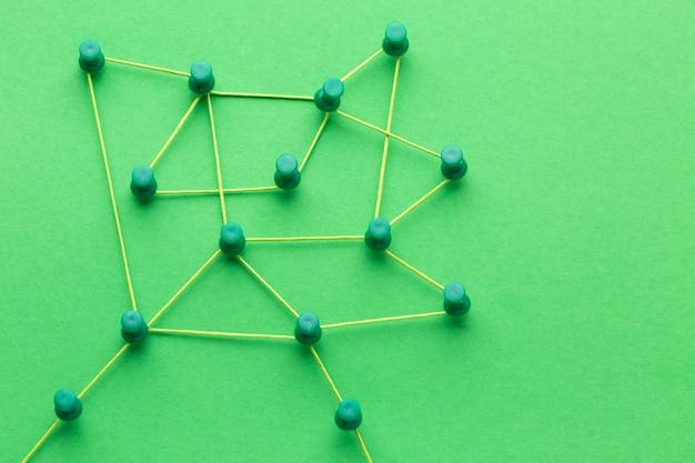 Composizione astratta di natura morta di concetto di rete