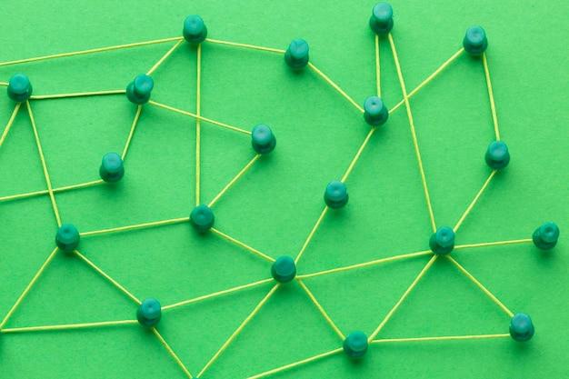 抽象的なネットワーキングの概念静物構成