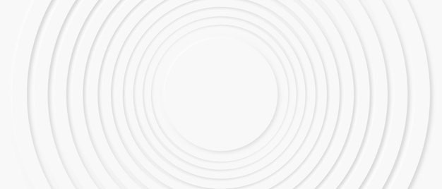 Abstract neumorphism design circle zoom wave with copy space for replace logo or text in the center, modern white geometry shape presentation illustration background