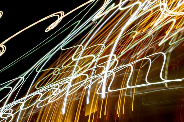 Abstract night light trails.
