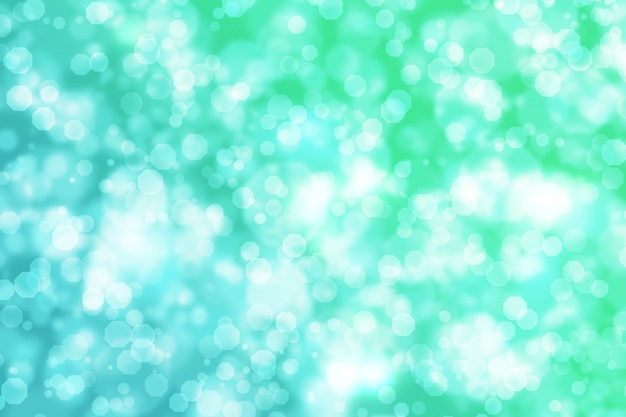 Abstract octagon bokeh background green blue gradient