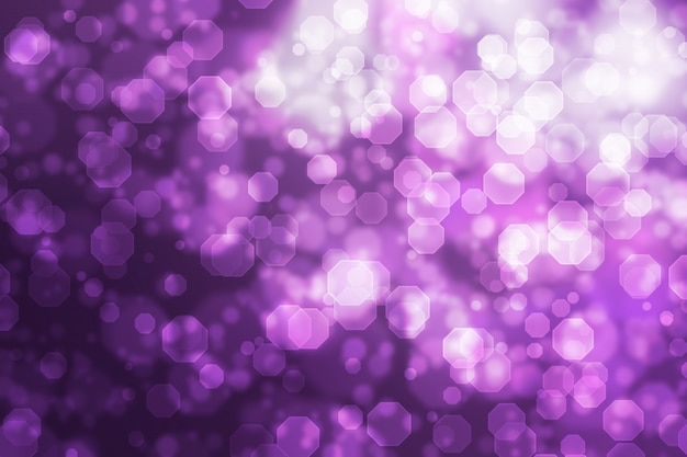Abstract octagon bokeh background purple gradient