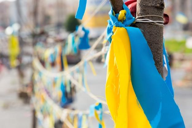 Аннотация ленты в украинском цвете