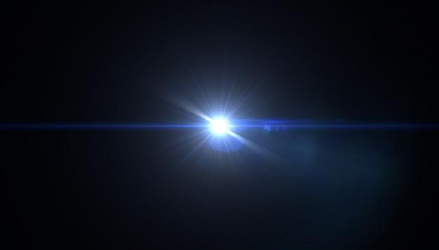 フレアと太陽の要約。ライトと太陽の光で自然な背景