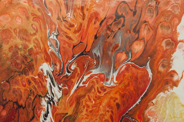 Abstract oil paint texture on wall, background - image