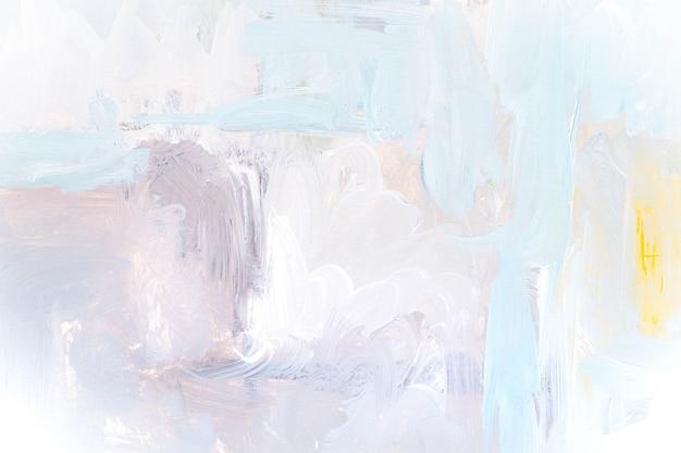 抽象的な油彩キャンバスの背景に白灰色のテクスチャー