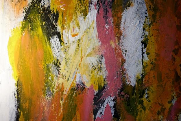 Абстрактная картина маслом фон масло на холсте цвет текстуры фрагмент произведения искусства