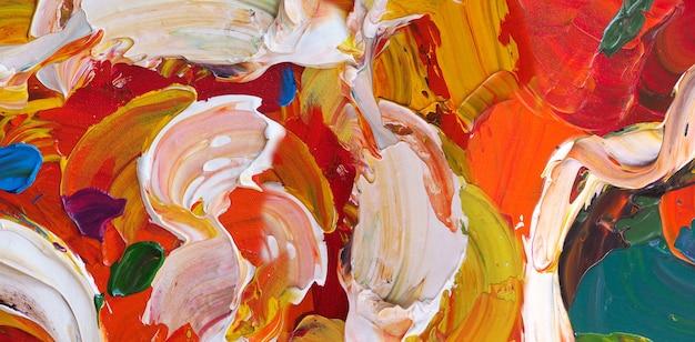 抽象的な油絵のクローズ アップ