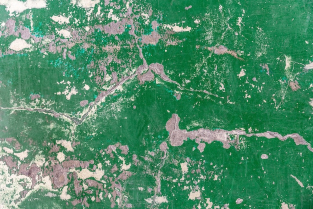 Abstract old and abandoned crack epoxy green floor texture.