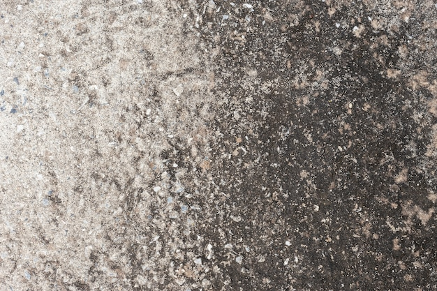 Abstract old dirty dark cement wall background on ground texture.
