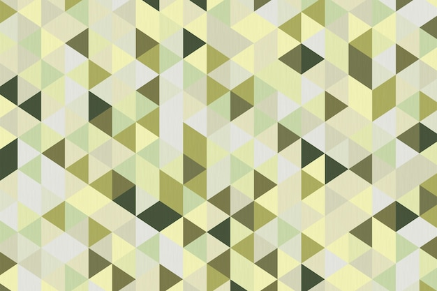 Abstract olive green polygon geometric background extreme closeup. 3d rendering.
