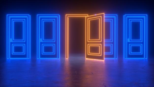 宇宙への抽象的な開閉ドア