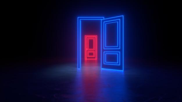 宇宙への抽象的な開かれた扉