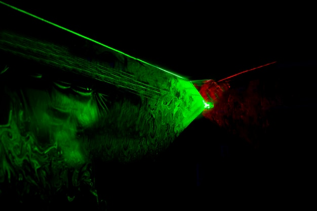 추상 광학 레이저 배경