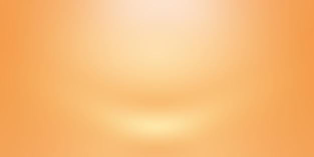 Progettazione di layout di sfondo arancione astratto, studio, camera, modello web, relazione aziendale con colore sfumato del cerchio liscio. Foto Gratuite