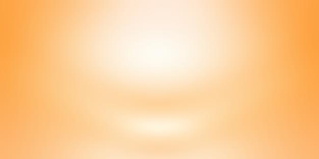 抽象的なオレンジ色の背景レイアウトデザイン、スタジオ、部屋、webテンプレート、滑らかな円のグラデーションカラーのビジネスレポート。