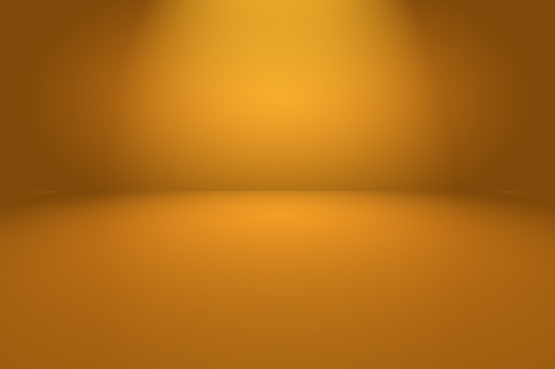 Abstract orange background with smooth circle gradient color.