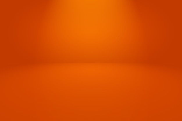 滑らかな円のグラデーション色と抽象的なオレンジ色の背景。