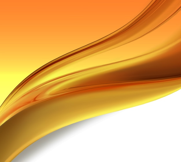 滑らかな線で抽象的なオレンジ色の背景