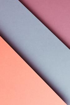 추상 주황색 파란색 보라색 용지 형상 구성 배경, 최소한의 그림자, 복사 공간. 최소한의 기하학적 모양. 화려한 배경 개념
