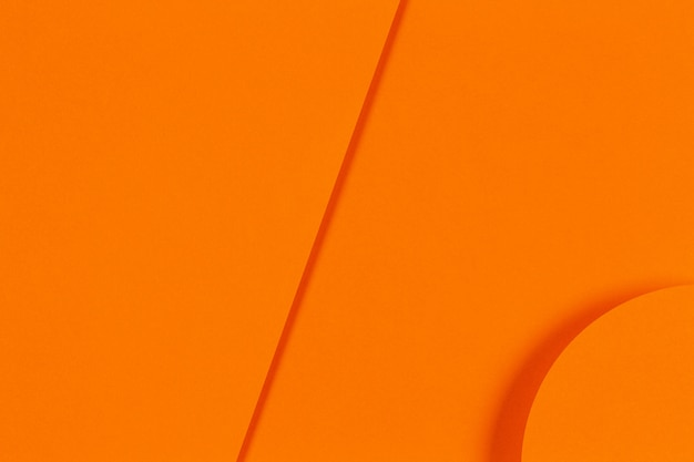 Abstract orange color monochrome geometry paper background