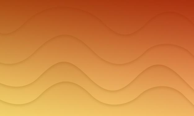 조명 효과와 추상 오렌지 곡선 배경 그림