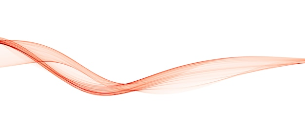 Abstract orange smooth wave lines