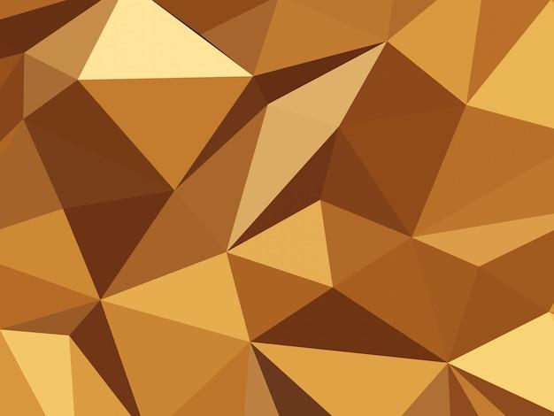 Abstract orange tone triangle shape background