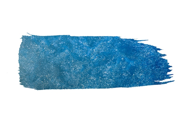 Abstract paint brush blue watercolor background.