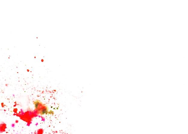 紙の上に抽象的な塗料滴