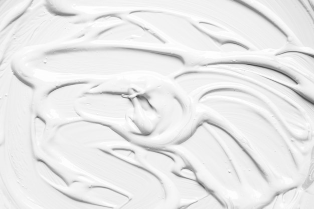 Abstract paint layer of white color