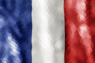 Abstract paint stroked flag   france