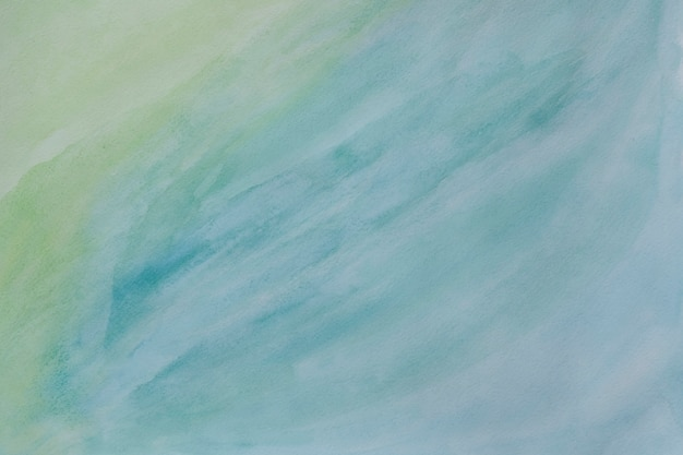 Abstract painted watercolor background - light green and blue colors