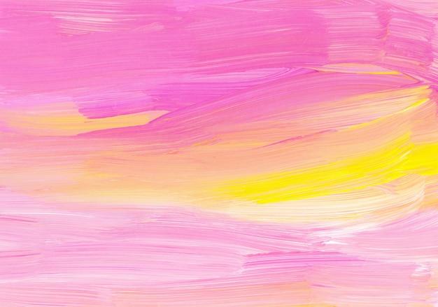 Абстрактная живопись искусство фон, розовый, белый, желтый текстуры