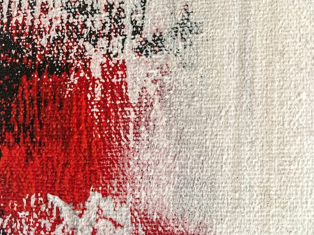 Abstract painting art background white and red colors