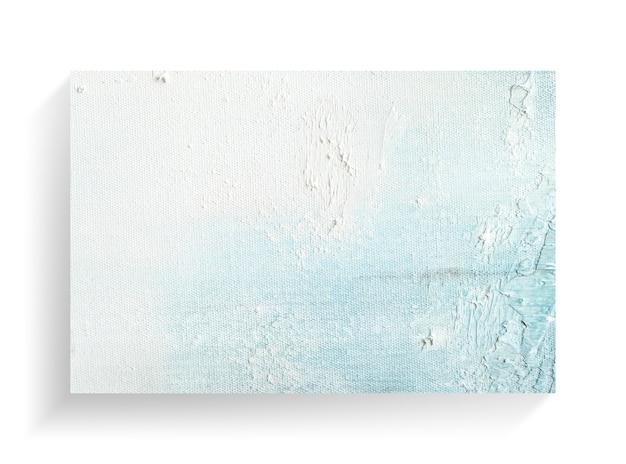 キャンバスのテクスチャ背景の抽象絵画アート。クローズアップ画像
