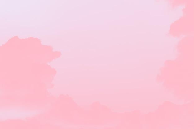 구름이 있는 추상 옅은 분홍색 부드러운 색 하늘 배경, 복사 공간