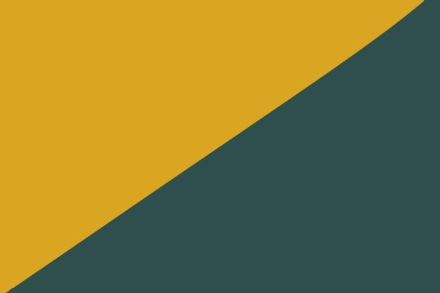 今年の流行色のタイドウォーターグリーンとフォーチュナゴールドの抽象的な紙の背景。 Premium写真